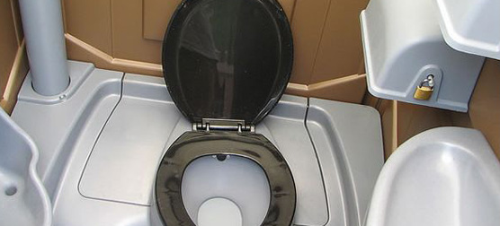 MOL Approved/ FLUSH UNIT - (Ministry of Labour Approved) - Recirculating toilet, urinal, sink, soap, paper towels